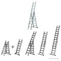 Brennenstuhl Multi-Purpose 3-Section-Ladder