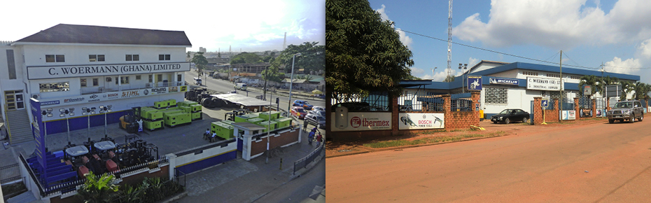 C. Woermann Ghana is located in Accra and Kumasi